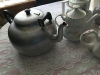 Large Vintage Two Handled Teapot- Great Item