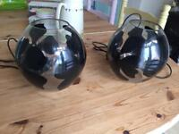 2 bed side lamps - only selling as no longer required