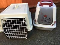 Large Ferplast Atlas 20L pet carrier and covered litter tray