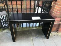 FREEblack solid CONSOLE table. GOOD CONDITION