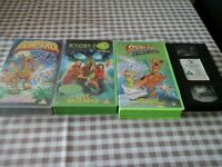 4 Scooby Doo VHS movies, art cards, excellent condition, free