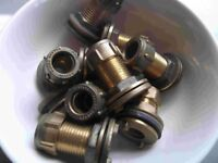 New 15mm brass compression fitting tank connectors - - much cheaper than Toolstation, Wickes