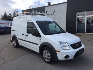2011 Ford Transit Connect divider, shelving, ladder rack.
