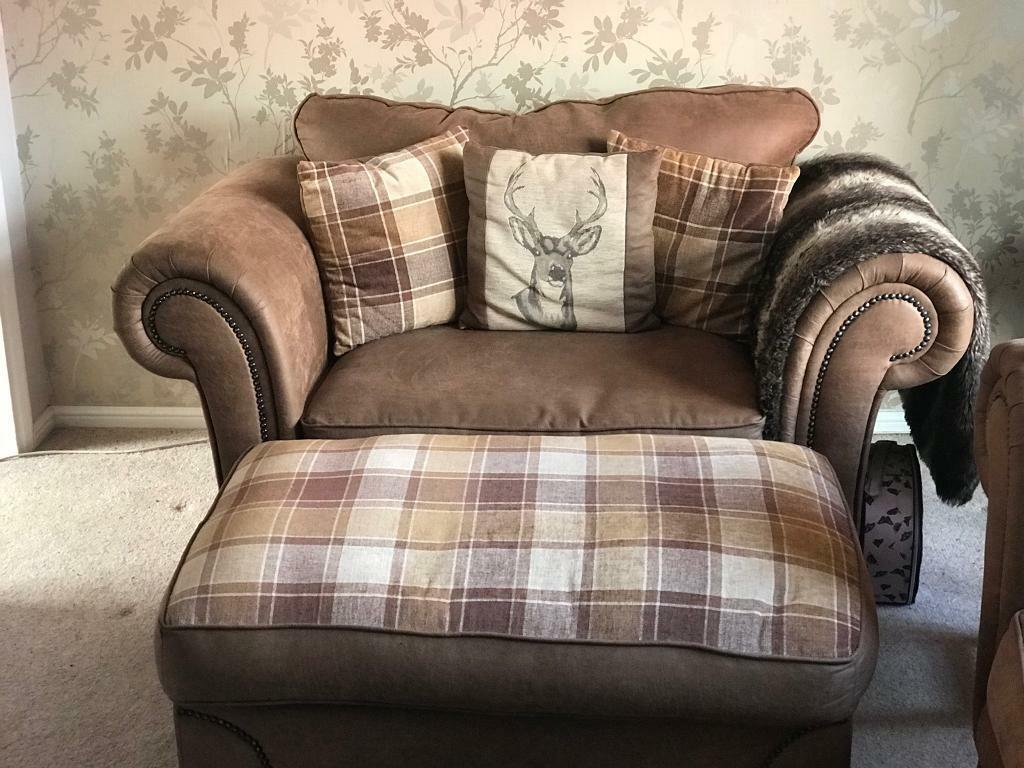 Sold Awaiting Collection Scs Abbey Sofa Cuddle Chair And Footstool