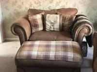 SCS Abbey Sofa, Cuddle chair and Footstool