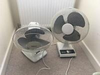 2 x stand electric fan