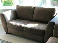 Brown 2+2 seater sofa for sale