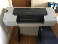 HP Designjet T610 Large Format Inkjet Printer / CAD Plotter A1 A2 Ink Included