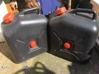 Caravan waste containers