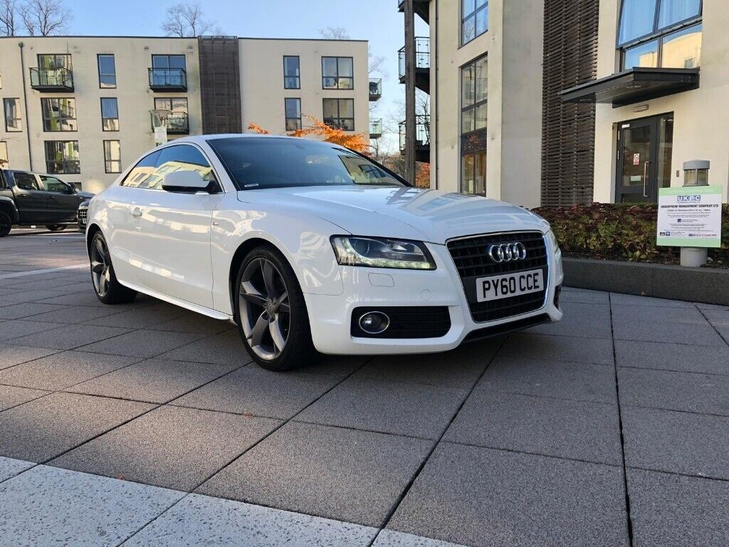Audi A5 White 2010 S Line 20 Tdi Manual Special Edition In
