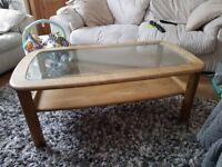 Oak style coffee table