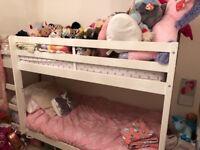 White Argos bunkbed