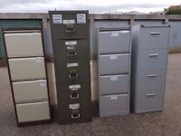 Selection of Metal 4 and 5 drawer filing cabinets incl. Bisley