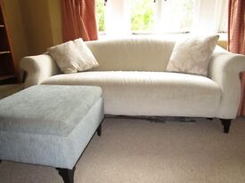 DFS Sofa, Chaise Longue and Foot Stool