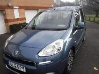 PEUGEOT PARTNER TEPEE 1.6 HDi 75 S F/S/H ONE LADY OWNER MI9NT (blue) 2012