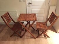 Wooden bistro set