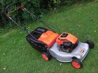 Flymo Quicksilver Rotary petrol self propelled lawnmower.
