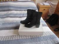 Brand New LK Bennett Black Leather Ankle Boots - UK Size 3.5/EUR Size 36