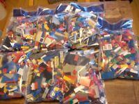 mixed lot of genuine lego bricks 750g a bag