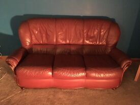 3 seater leather sofa for sale used but still has life left in it