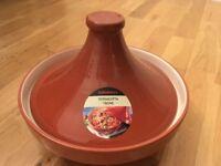 Brand New Terracotta ceramic Tagine