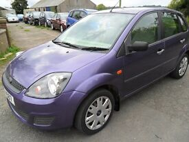 ford fiesta 1.4 tdci diesel 5 door purpel march 2008 sold with full years mot