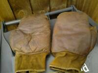 Vintage leather boxing gloves loft find rare