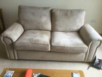 Two seater sofa and Snuggle chair