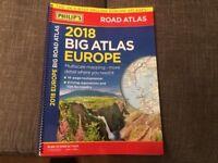 Philips 2018 Big car/road Atlas Map of Europe