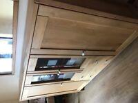 Solid wood sideboard display cabinet