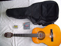 3/4 Acoustic Guitar with case and accessories Stagg model C530