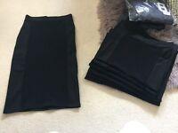 BRAND NEW *JOB LOT* Women's body con black skirts