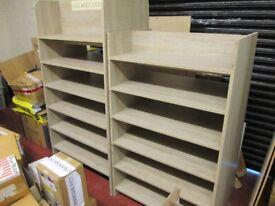 2x large wooden retail business shelving units 170x89x60cm shelfs storage