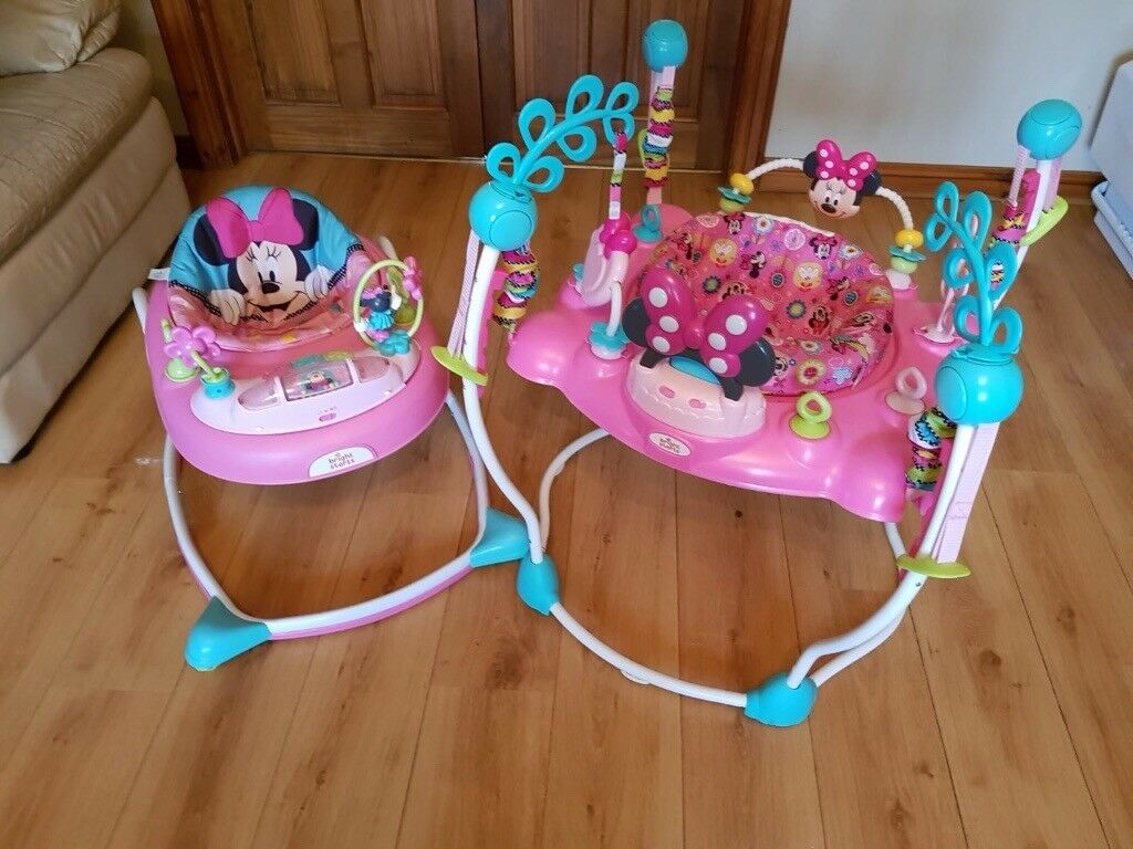 best choice top-rated real latest trends of 2019 Minnie Mouse walkie and jumperoo | in Cookstown, County Tyrone | Gumtree