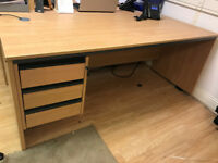 4 x Large Office Desks with Drawers Available to Buy. Collection Only. Good Condition.