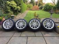 "Bmw m sport 17"" alloy wheels with Good Year run flat tyres"