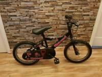 16inch black and pink bike