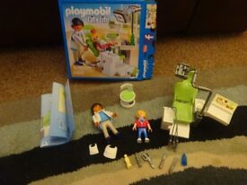 Playmobil Boxed As New Complete with Instructions City Life Dentist with Patient set 6662 Only £6