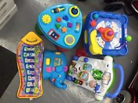 BUNDLE 5 BABY TODDLER TOYS PIN BALL ACTIVITY TABLE MUSICAL MAT LEAPFROG WALKER PLAYSKOOL LEARNIMALS