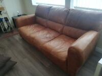 Dfs hobart genuine leather sofa and armchair