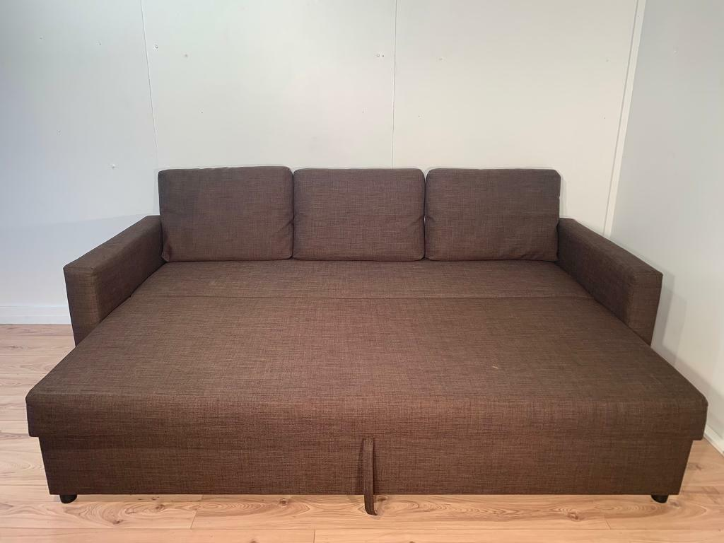 Amazing Brown Ikea Sofa Bed With Free Delivery Within London In Clapham London Gumtree Cjindustries Chair Design For Home Cjindustriesco