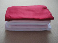 Bundle of 6 x Baby Girl Pink Red White Blankets Throws Quilt and Pillow Set Girls Morden SM4