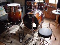 Pearl Lacquer Series VBL/SST Drum Kit Chestnut Fade Sensitone Snare & Hardware Pack