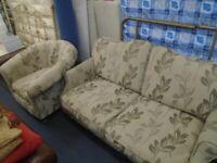 SOFA AND CHAIR SET at Haven Trust's charity shop at 247 Radford Road, NG7 5GU