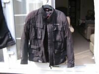 Motorcycle helmet plus jacket & trousers