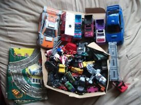 Die Cast + Plastic Toy Cars / Vehicles + Road