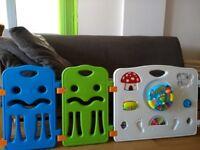 2 sets of plastic panel playpens