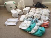 Size 1 little lamb reusable nappies bundle in very good condition