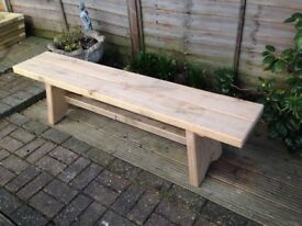 Solid French Oak Bench