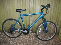 falcon adult mountain bike front suspension Front/Rear disc brakes 18spd twist gears good condition